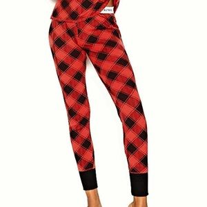 Victoria's Secret Black and Red Plaid Pajama Pants